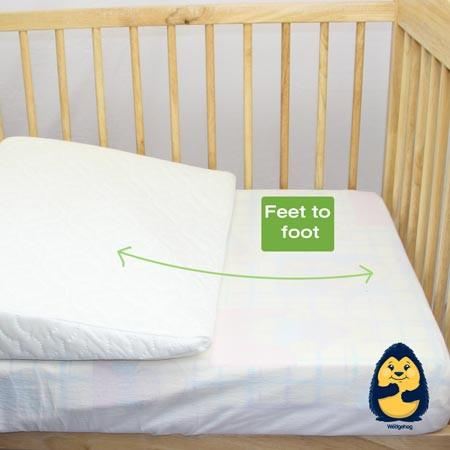 Bamboo Wedgehog® Deluxe - 60cm Cot Reflux Wedge - includes Free Bundled Reflux eBook - The Wedgehog®