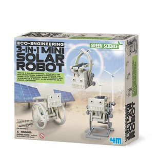 3 in 1 Mini Solar Robot Toys 4M