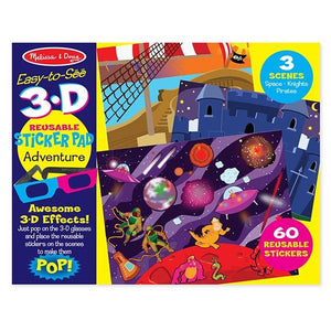Adventure 3D Reusable Sticker Pad Toys Melissa & Doug