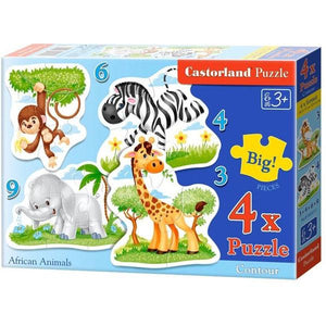 African Animals 3+4+6+9pc Toys Castorland