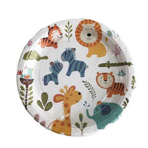 Animal Paper Plates 10pcs Parties Not specified