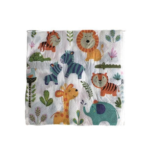 Animal Serviettes 20pc Parties Not specified