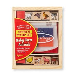 Baby Farm Animals Stamp Set Toys Melissa & Doug