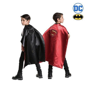 Batman Superman Justice League 2 in 1 Reversible Cape Dress Up DC Comics