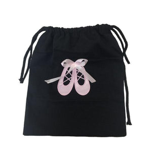 Black Canvass Drawstring Ballet Bag Ballet Not specified