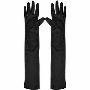 Black Long Gloves 42cm Dress Up Not specified