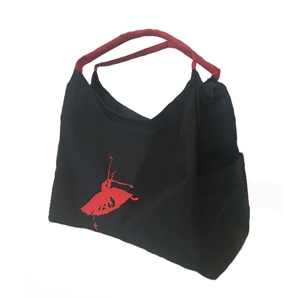 Black & Red Ballet Bag 31x36x17cm