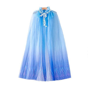 Blue Chiffon Princess Cape Dress Up Not specified