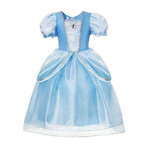 Blue Cinderella Princess Dress Dress Up Not specified