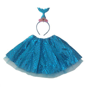 Blue Mermaid Tutu Set (Age 3-6) Dress Up Not specified