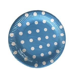 Blue Polka Dot Plates Parties Not specified