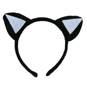 Cat Ears Black + White Dress Up Not specified