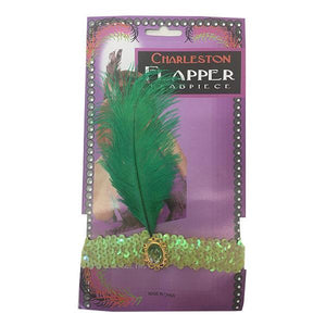Charleston Flapper Feather Headband Dress Up Not specified Light Green