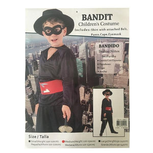 Childrens Bandit Zorro Costume (M 120-130cm) Dress Up Not specified