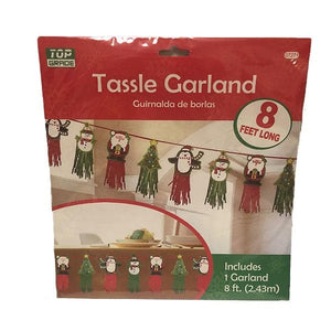 Christmas Garland Tassle Dress Up Not specified