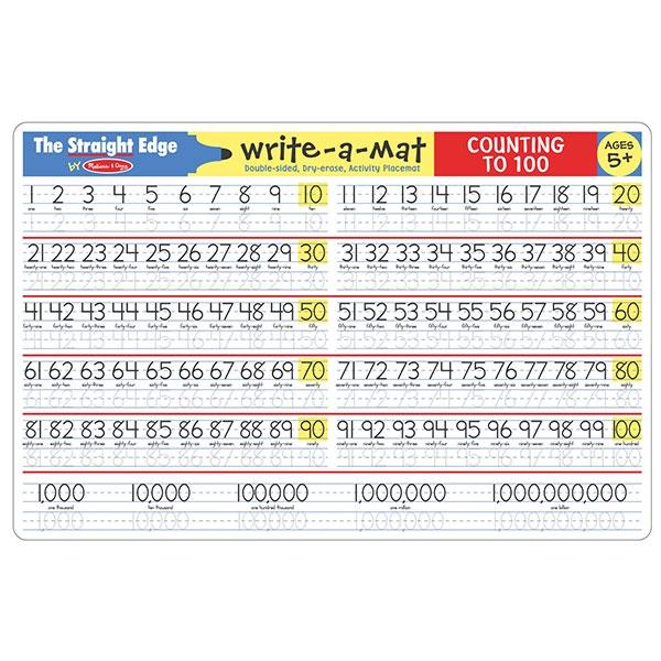 Counting to 100 - Write-A-Mat