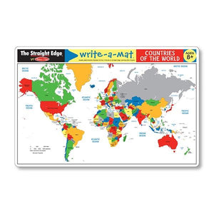 Countries of the World Write-A-Mat Toys Melissa & Doug