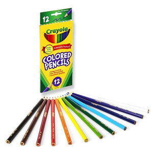 Crayola 12 Coloured Pencils Stationery Crayola