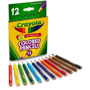 Crayola 12 Half Length Colour Pencil Stationery Crayola