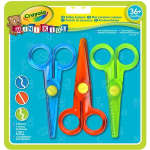 Crayola 3 Minikids Scissors Stationery Crayola