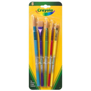 Crayola 5 Paint Brushes Stationery Crayola