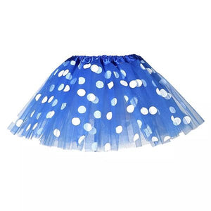 Dark Blue Polka Dot Tutu Skirt (Age 3-6) Dress Up Not specified