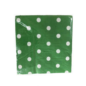 Dark Green Polka Dot Serviettes Parties Not specified