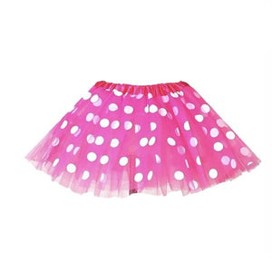 Dark Pink Polka Dot Tutu Skirt (Age 3-6) Dress Up Not specified