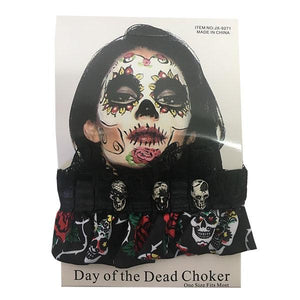 Day of the Dead Choker Dress Up Not specified