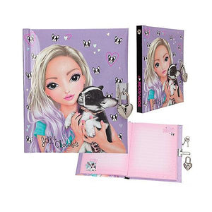 Diary Lock Up Dog and Girl Toys Top Model