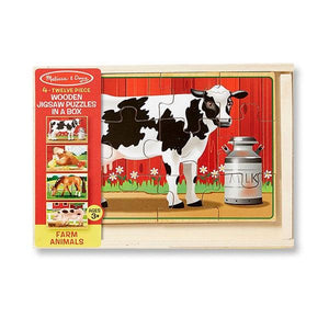 Farm Animals Puzzles in a Box Toys Melissa & Doug