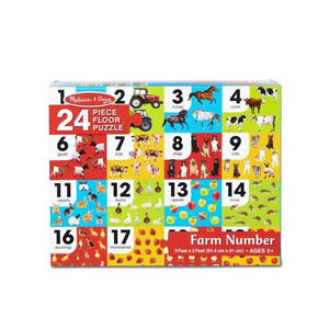 Farm Number Floor Puzzle (24 pc) Toys Melissa & Doug
