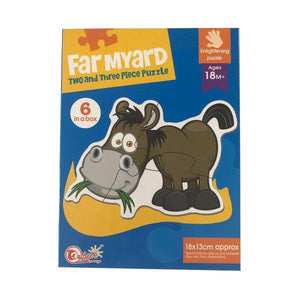 Farmyard 2pc & 3pc Puzzle Toys Not specified