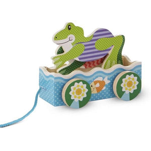 First Play Friendly Frogs Pull Toy Toys Melissa & Doug