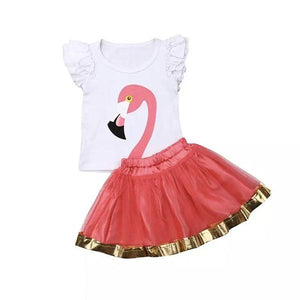 Flamingo Skirt & Top Clothing Not specified