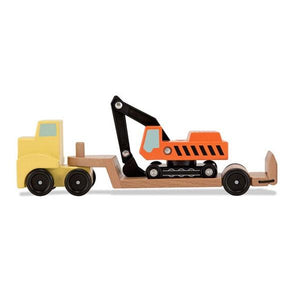 Flatbed Trailer and Excavator Toys Melissa & Doug