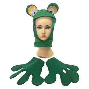 Frog Hat & Gloves Dress Up Not specified