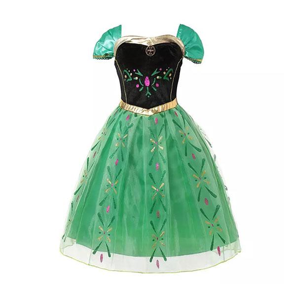 Green & Black Princess Dress