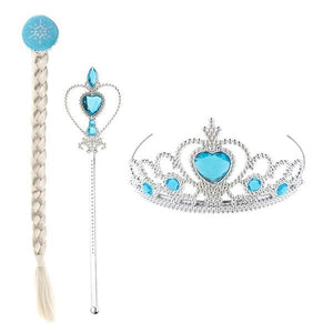 Frozen Elsa Crown Wand and Hair Extension Dress Up Not specified