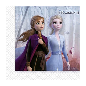Frozen II Two-ply Serviettes 33x33cm Parties Disney