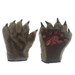 Furry Paw Gloves 19x25cm Dress Up Not specified