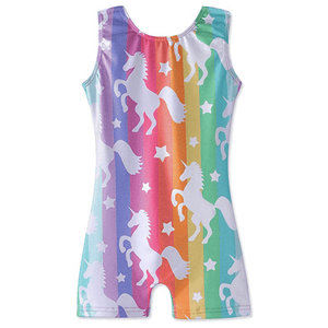Glitter Unicorn Leotard with Shorts Ballet Not specified