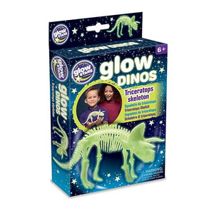 Glow-in-the-Dark Dinos Triceratops Skeleton Toys Brainstorm