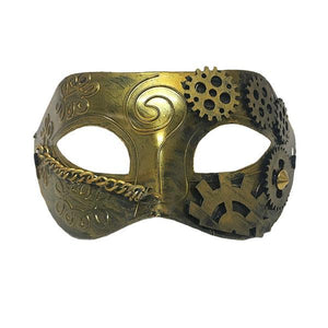 Gold Steampunk Mask Dress Up Not specified