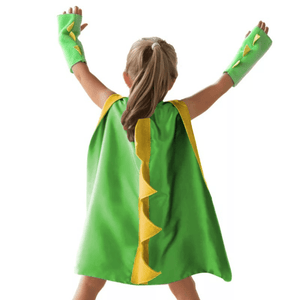 Green Dinosaur Cape and Cuff Set Dress Up Not specified