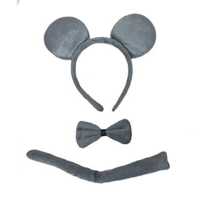Grey Mouse Ear Set Dress Up Not specified