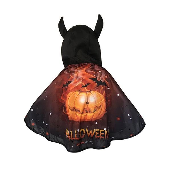 Halloween Pumpkin Kids Cape