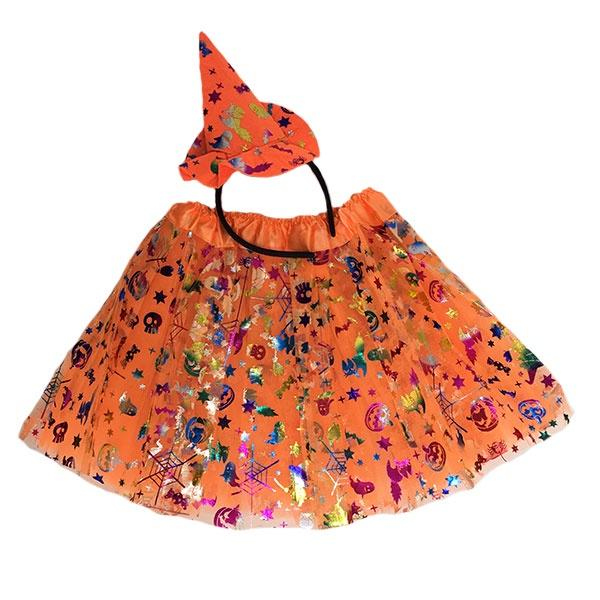 Halloween Tutu Set Orange (Age 3-6)