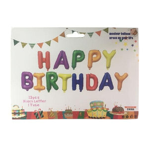 Happy Birthday Letter Balloons Multi Parties Not specified