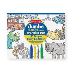 Jumbo Colouring Pad Blue Toys Melissa & Doug